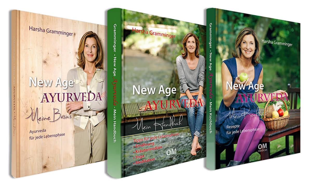Drei Bücher über New Age Ayurveda von Dr. Harsha Gramminger